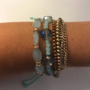 Blue and Gold Tone Bracelet